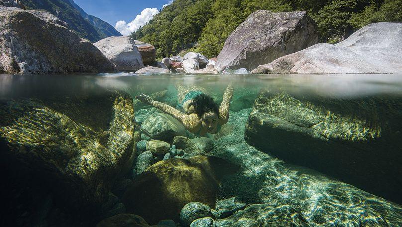 Verzasca river photo — 1