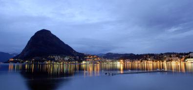 Lugano / golfo all'alba
