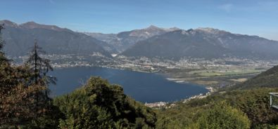 Panoramica sul locarnese dal Gambarogno