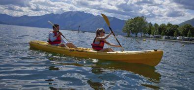 canoa sul lago maggiore