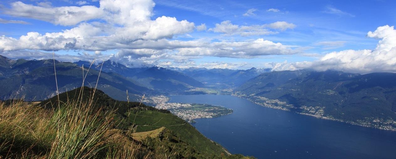 Ronco sopra Ascona e il Pizzo Leone